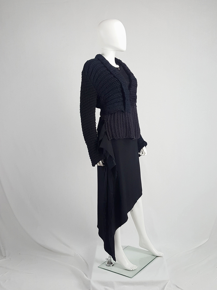 vintage Maison Martin Margiela artisanal black jumper made of scarves and jumpers 212441