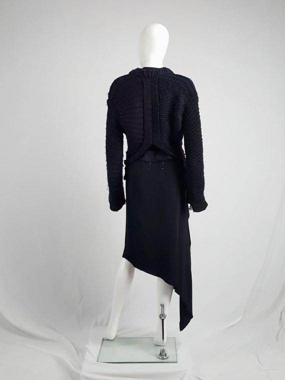 vintage Maison Martin Margiela artisanal black jumper made of scarves and jumpers 212547(0)