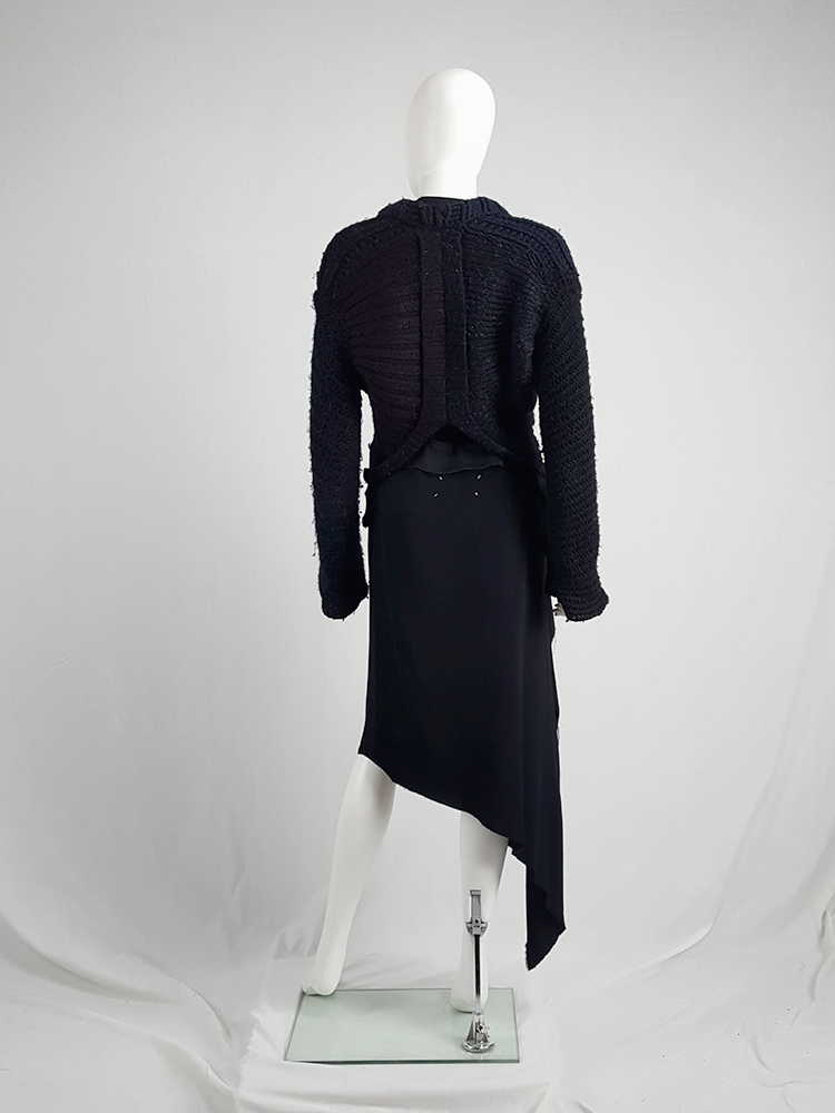 vintage Maison Martin Margiela artisanal black jumper made of scarves and jumpers 212547(0)