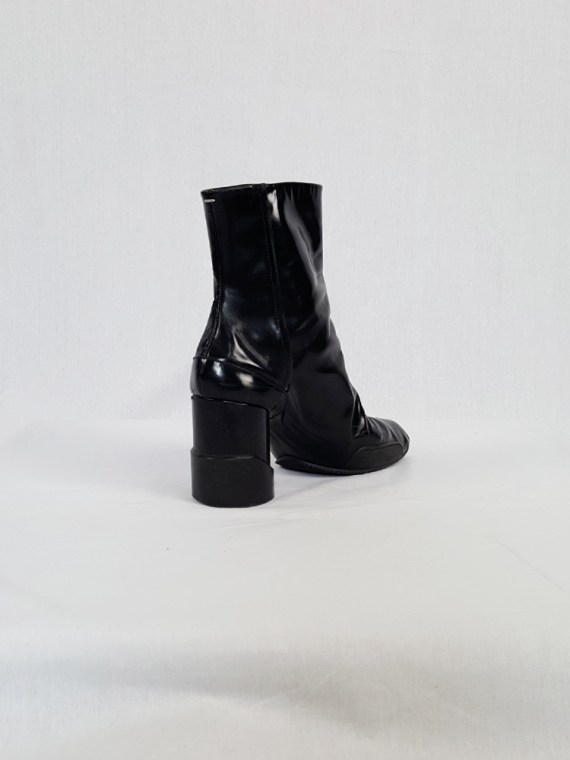 vintage Maison Martin Margiela black patent techno tabi boots fall 2014 134111