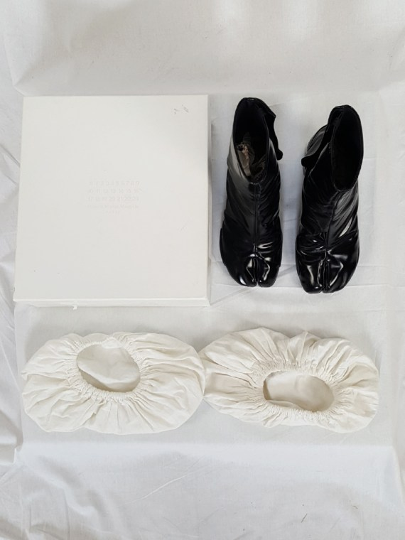 vintage Maison Martin Margiela black patent techno tabi boots fall 2014 134849
