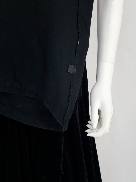 vintage Maison Martin Margiela black t-shirt hanging on the front of the body spring 2003 121331