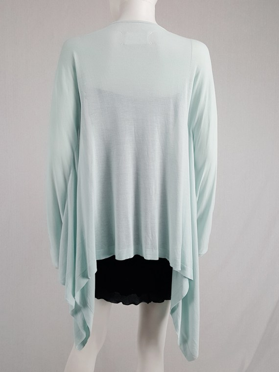 vintage Maison Martin Margiela mint green cardigan with integrated sleeves runway spring 2008 103917