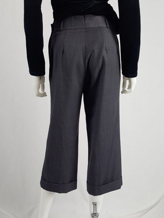 vintage Maison Martin Margiela replica blue 1930s ladys cropped trousers fall 2006 222812