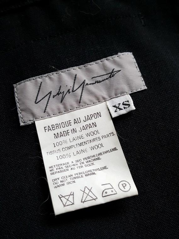 vintage Yohji Yamamoto black midi skirt with obi style sash 181058