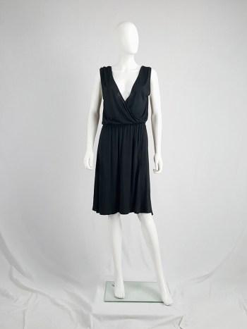 Maison Martin Margiela replica black 1970's day dress — spring 2006