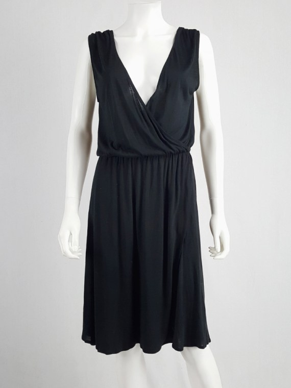 archival Maison Martin Margiela replica black 1970s day dress spring 2006 102323