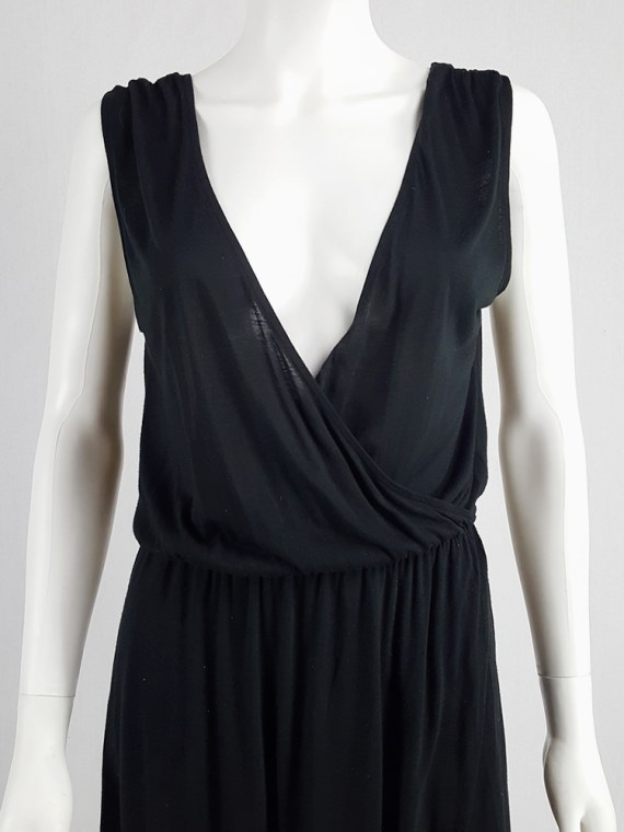 archival Maison Martin Margiela replica black 1970s day dress spring 2006 102334