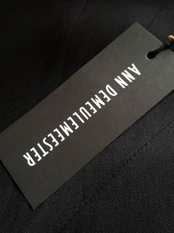 vintage Ann Demeulemeester black strappy dress with mermaid skirt spring 2007 120832