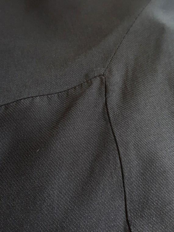 Ann Demeulemeester black strappy dress with mermaid skirt — spring 2007