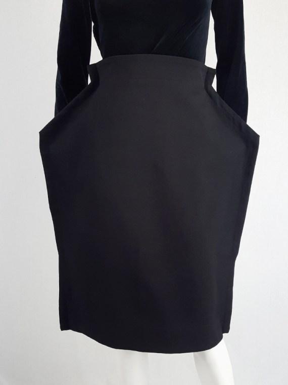 vintage Comme des Garcons black 2D paperdoll skirt fall 2012 111126