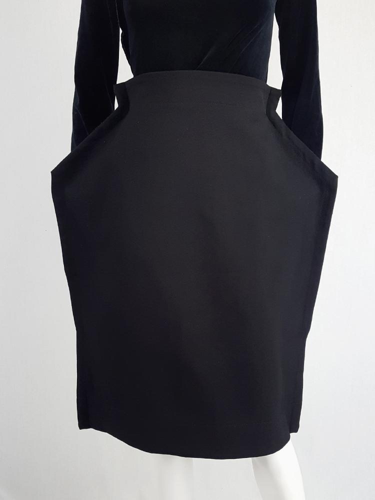 Comme des Garçons black 2D paperdoll skirt — fall 2012