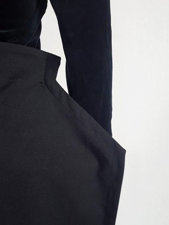 vintage Comme des Garcons black 2D paperdoll skirt fall 2012 111736