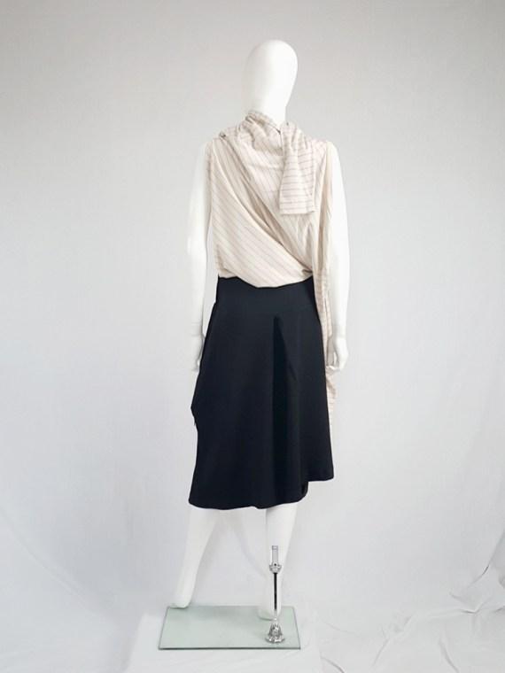 vintage Maison Martin Margiela black sideways worn skirt spring 2005 142124