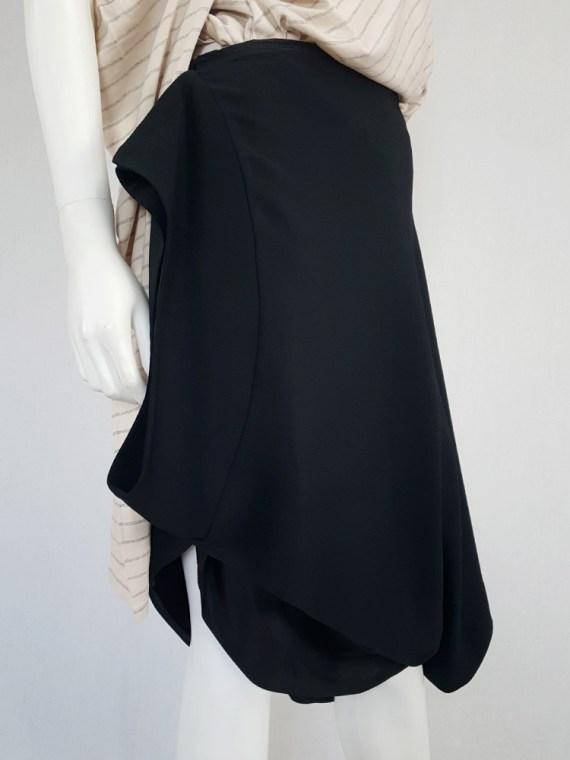 vintage Maison Martin Margiela black sideways worn skirt spring 2005 142807