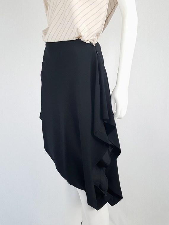 vintage Maison Martin Margiela black sideways worn skirt spring 2005 142901(0)