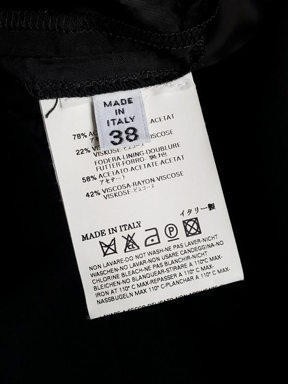vintage Maison Martin Margiela black sideways worn skirt spring 2005 171228