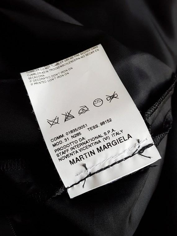 Maison Martin Margiela black sideways-worn skirt — spring 2005