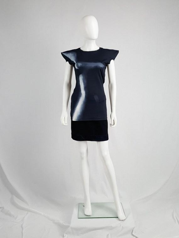 vintage Maison Martin Margiela black trompe l oeil top with peak shoulders fall 2008 103329_003