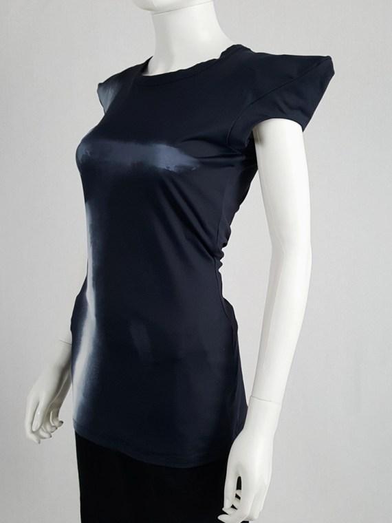 vintage Maison Martin Margiela black trompe l oeil top with peak shoulders fall 2008 103517