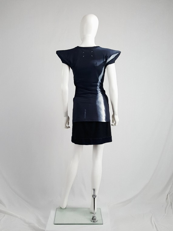 Maison Martin Margiela black trompe-l'oeil top with peak shoulders — spring 2008