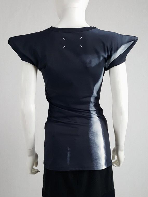 Maison Martin Margiela black trompe-l'oeil top with peak shoulders — spring 2008