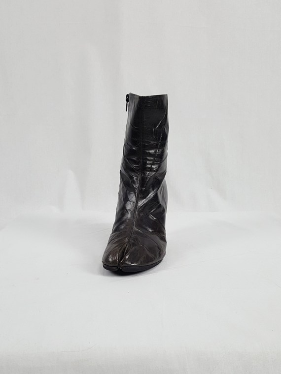 vintage Maison Martin Margiela brown tabi boots with stiletto heel spring 2007 224158