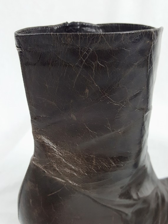 vintage Maison Martin Margiela brown tabi boots with stiletto heel spring 2007 224336