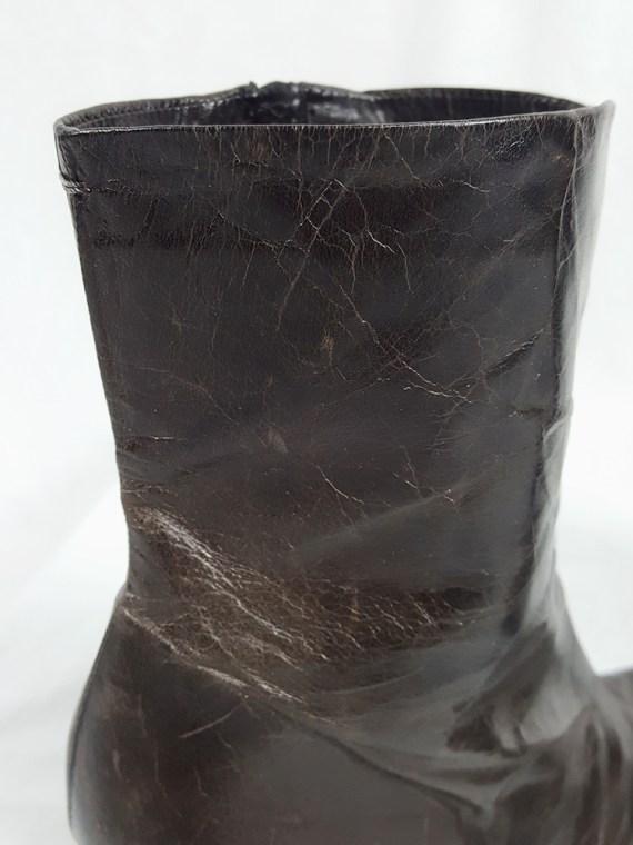 Maison Martin Margiela brown tabi boots with stiletto heel (38) — spring 2007