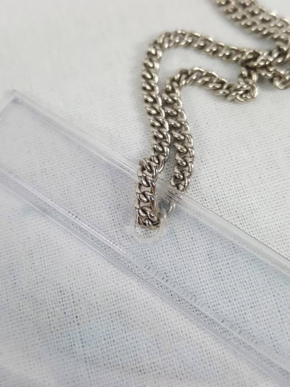 vintage Margiela MM6 necklace with cut stone in plastic bag Spring 2007 114134