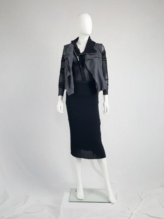 vintage Rick Owens CITROeN black draped skirt with back slit spring 2004 132504