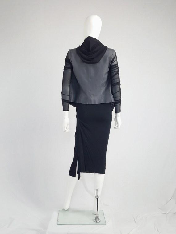 vintage Rick Owens CITROeN black draped skirt with back slit spring 2004 132658