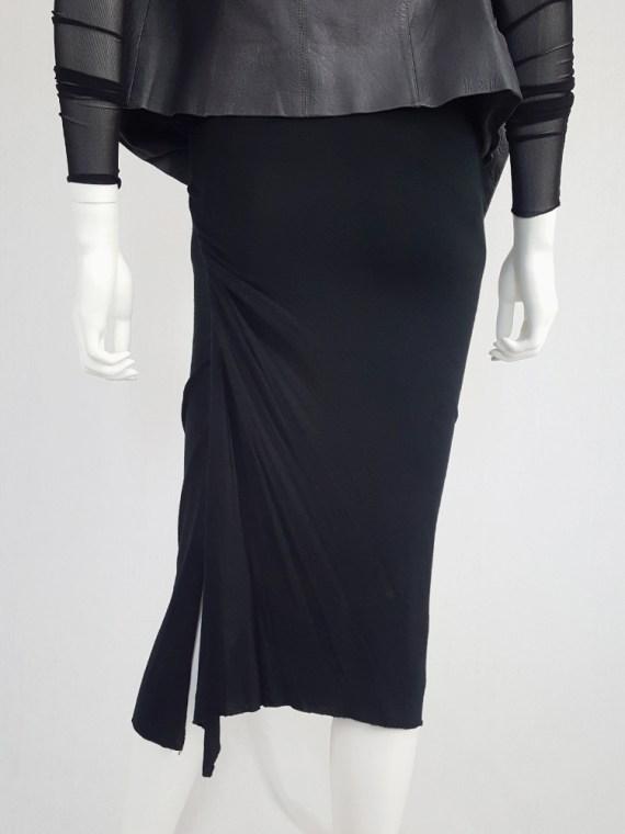 vintage Rick Owens CITROeN black draped skirt with back slit spring 2004 132733