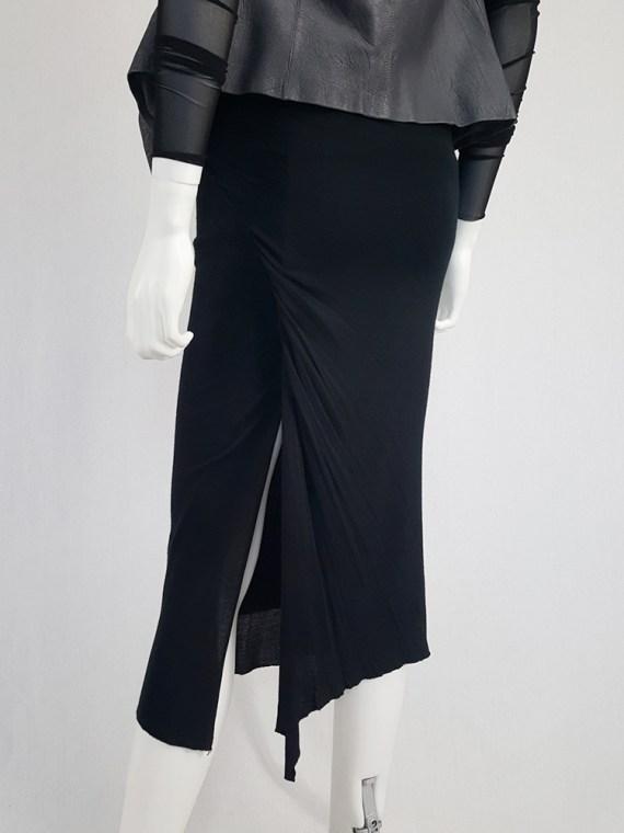 vintage Rick Owens CITROeN black draped skirt with back slit spring 2004 132851