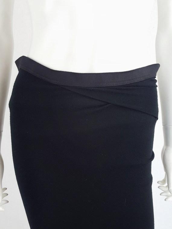 vintage Rick Owens CITROeN black draped skirt with back slit spring 2004 133416