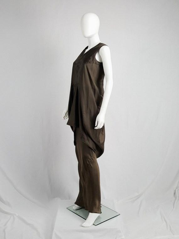 vintage Rick Owens VICIOUS brown asymmetric tunic or dress spring 2014 101609