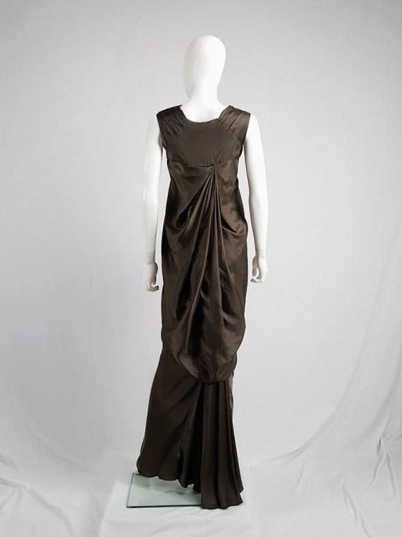 vintage Rick Owens VICIOUS brown asymmetric tunic or dress spring 2014 101657(0)