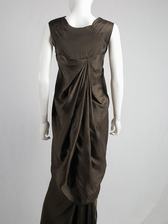 vintage Rick Owens VICIOUS brown asymmetric tunic or dress spring 2014 101720