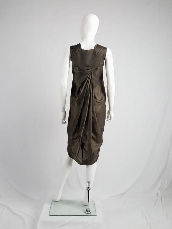 vintage Rick Owens VICIOUS brown asymmetric tunic or dress spring 2014 101859