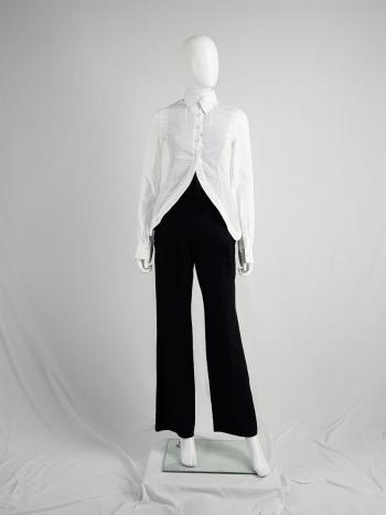 vintage Ann Demeulemeester white shirt with cutaway hem runway spring 2006