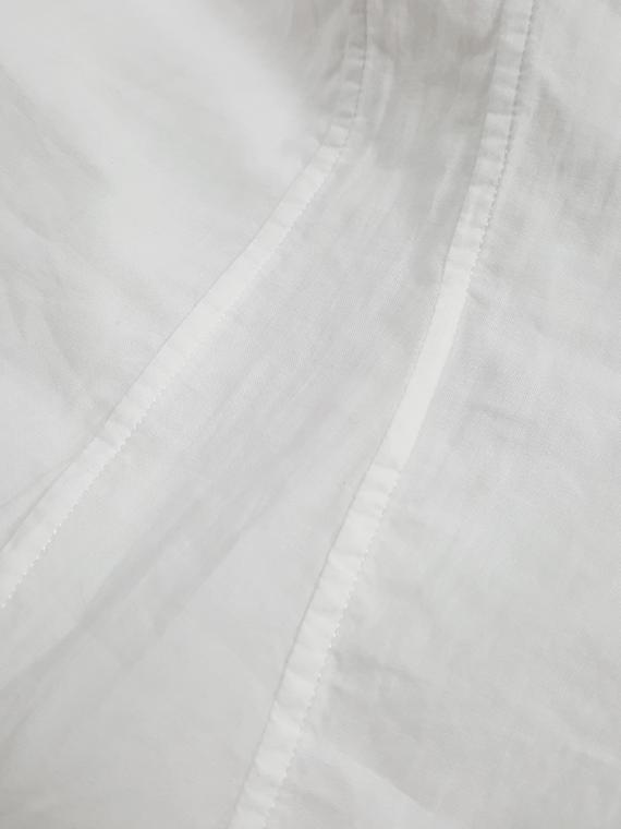 vintage Ann Demeulemeester white shirt with cutaway hem runway spring 2006 180920(0)