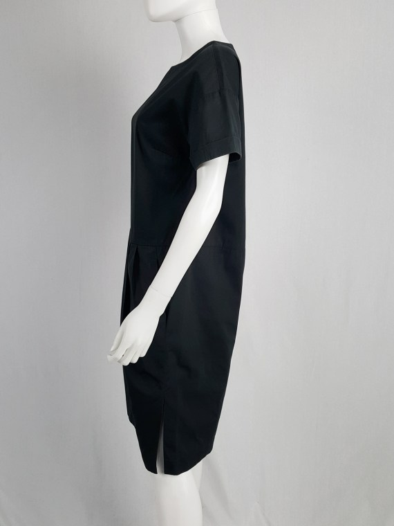 Dries Van Noten grey loose-fitting dress with pleated skirt