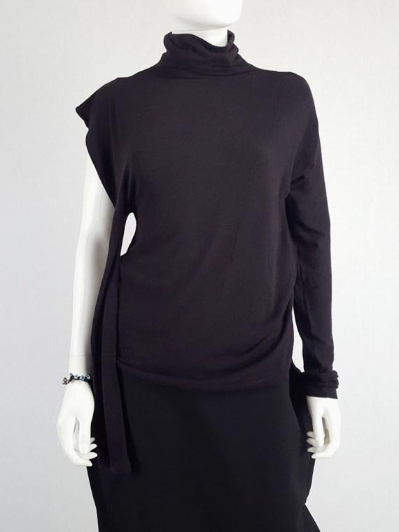 Maison Martin Margiela black jumper with peak shoulder — fall 2009