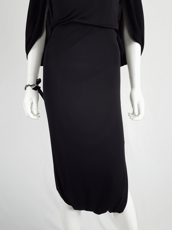 Maison Martin Margiela black jumpsuit with draped back — fall 2007