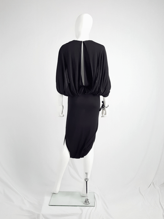 vintage Maison Martin Margiela black jumpsuit with draped back runway fall 2007 131421