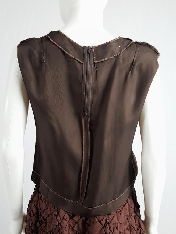 vintage Maison Martin Margiela brown inside-out top in lining fabric runway fall 1995 125209