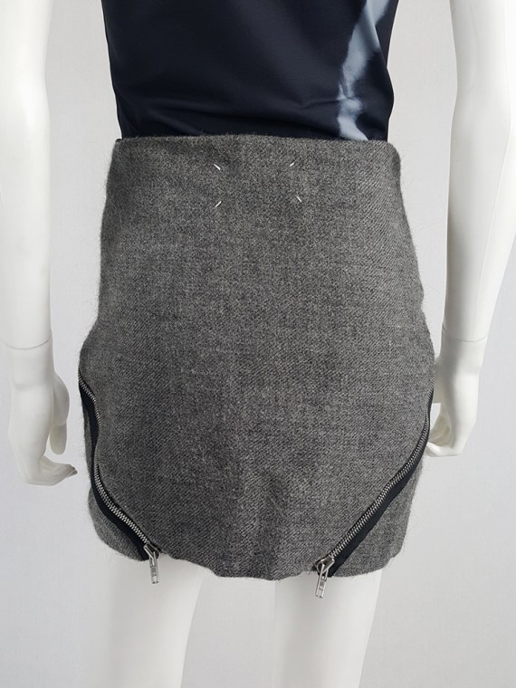Maison Martin Margiela grey double zipper skirt runway fall 2008 140100