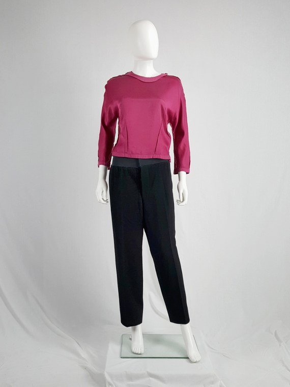vintage Maison Martin Margiela artisanal black trousers with elasticated waist fall 1995 131354