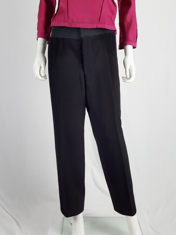 vintage Maison Martin Margiela artisanal black trousers with elasticated waist fall 1995 131422