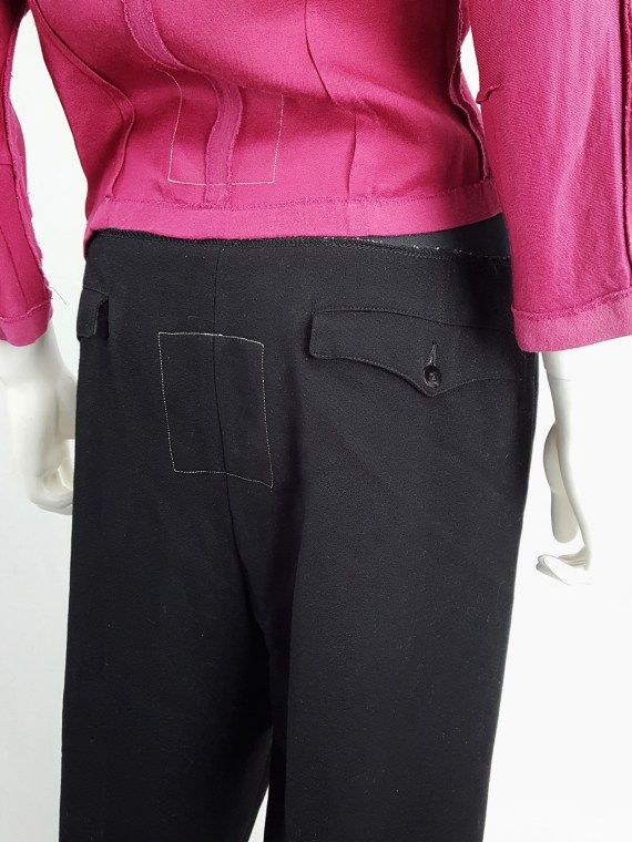 vintage Maison Martin Margiela artisanal black trousers with elasticated waist fall 1995 131721